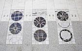 Facade with mosaics — Stock Photo