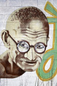 Dessin animé de gandhi — Photo