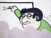 Teacher writing — Stock Photo