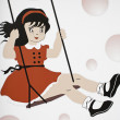 Girl swinging — Stock Photo