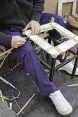 Man making chairs — Stock Photo