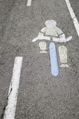 Sygnał rower — Zdjęcie stockowe