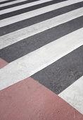 Attraversamento pedonale rosso — Foto Stock