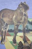 Horse in building — Stockfoto