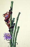 Czerwony i fioletowy żaby — Zdjęcie stockowe