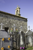 Church with cemetery — Stockfoto
