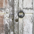 Wooden door with handle — Stock Photo