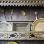 Antique wooden kitchen — Stock Photo