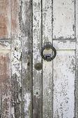 Wooden door with handle — Stock Photo