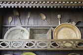 Antique wooden kitchen — Photo