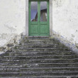 Stock Photo: Door with stairs