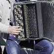 Musician playing accordion — Stock Photo #26358759
