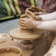 Craftsman with clay and ceramic - Stock Photo