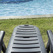Pool Lounger — Stock Photo