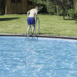 Постер, плакат: Swimmer in pool