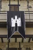 Château sur le drapeau — Photo