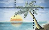 Island with palm — Stock Photo