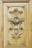 Door with symbols — Stock Photo