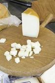 Cheese wedge cut — Stock Photo