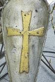Scudo con croce — Foto Stock