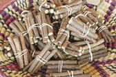 Raw licorice sticks — Stock Photo