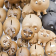 Stock Photo: Handmade piggy banks
