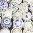 Handcrafted Decorative Plates — Stock Photo