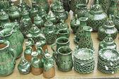 Green Tableware — Stock Photo