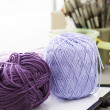 Balls of wool colors — Stock Photo