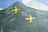 Birds in mountain — Stock Photo