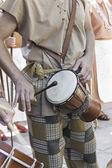 Musician with timpani — Stock Photo