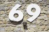 Number sixty-nine — Stock Photo