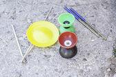 Games juggle manuals — Stock Photo