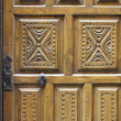 Wooden carved door — Stock Photo