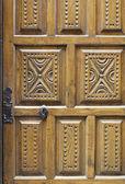 Ahşap oyma kapı — Stok fotoğraf