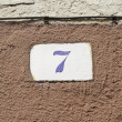 Number seven — Stock Photo