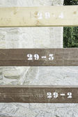 Sticks numbered — Stock Photo