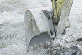 Crane and excavator — Stockfoto