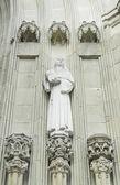 Nun with bible — Stock Photo