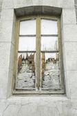 Old window broken — Foto de Stock