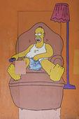 Homer eating — Stock Photo
