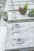 Old marble tombstones — Foto de Stock