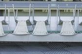 Chairs backwards — Stock Photo