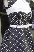 Vestido polka dot — Foto Stock