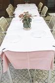 Restaurant tablecloth — Foto Stock