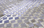 Blackened blue tiles — Stock Photo