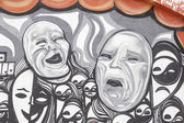 Masks theater wall — Photo