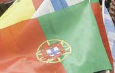 Flag of Lisbon and Spain — Stockfoto