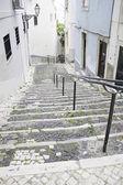 старая деревня лестницы улица — Стоковое фото