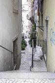 старая деревня улица — Стоковое фото